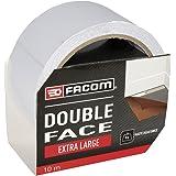 FACOM 84441 Adhésif Double-Face Extra Large 10 m x 50 mm, Gris