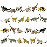 Fun Central AZ915 24 Pieces, 2 Inch Assorted Cat Toys for Kids, Cat Toy Figure, Cat Girl Toy Figures