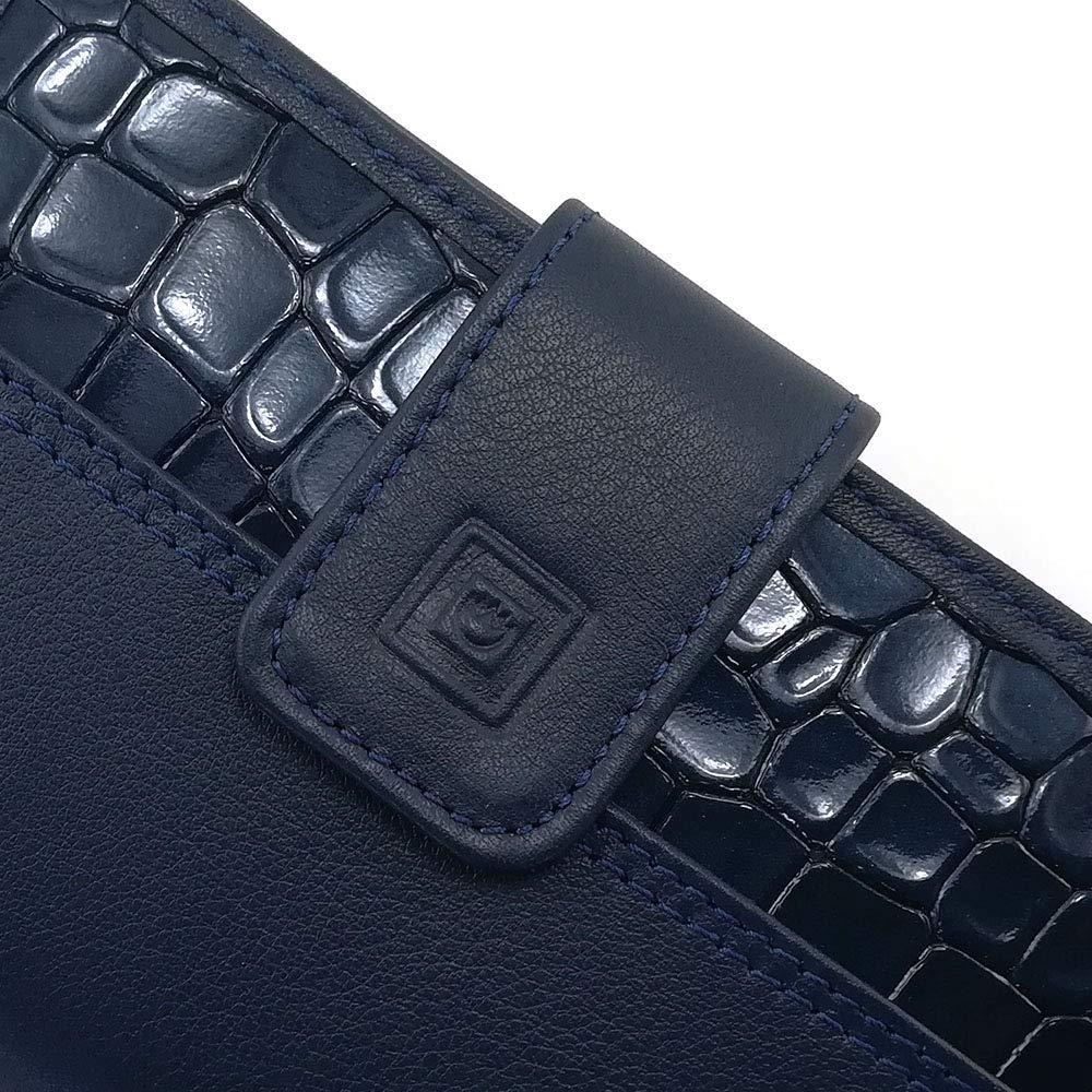 Ref Portemonnaie Damen Casanova Gemacht Aus Haut Geldb/örse Damen Handmade Spanien 26218 Blau