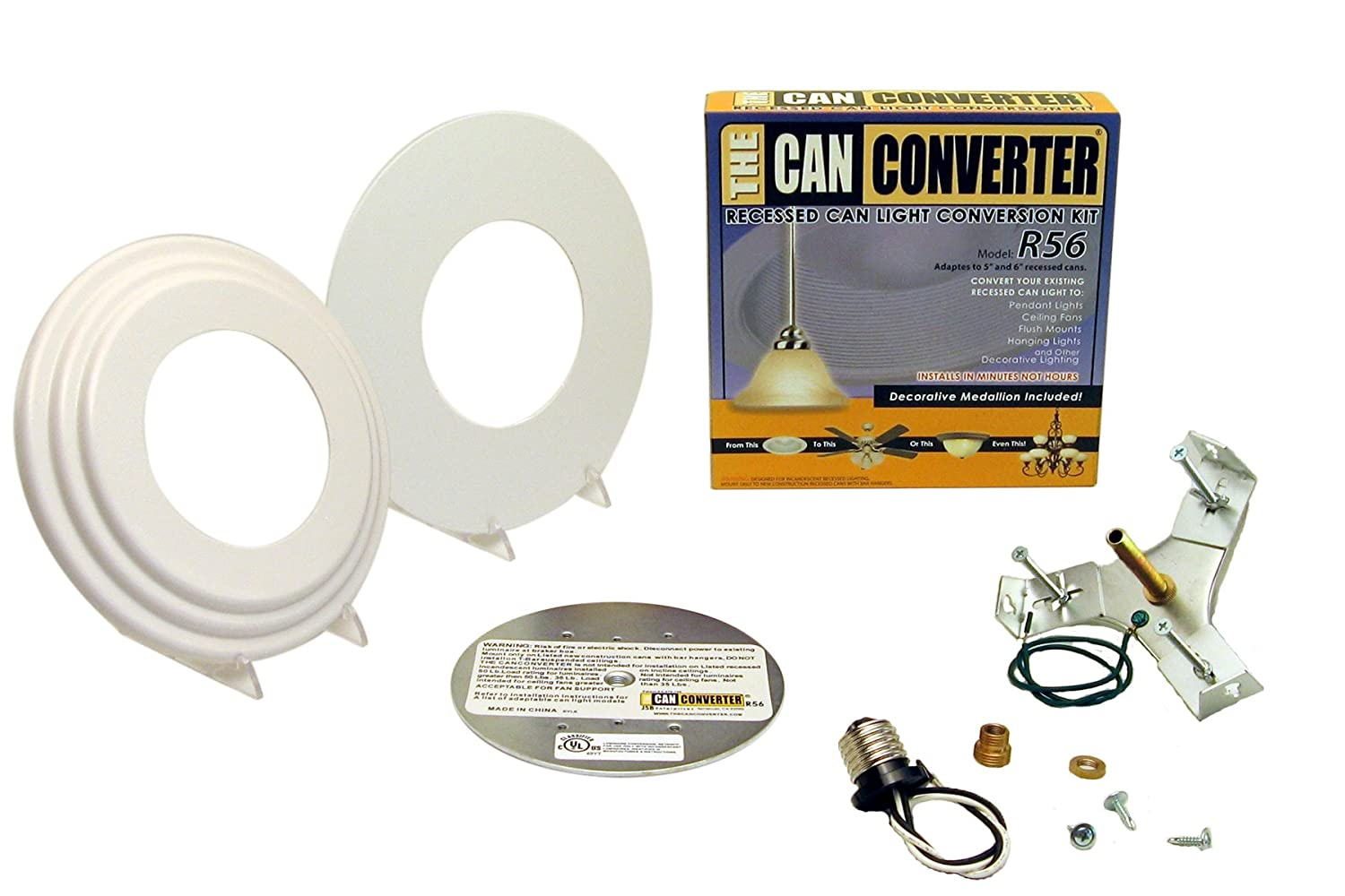Can Light Conversion Kit >> Light Recessed Beveled Flat Canopy Converter R56 Whtfb Conversion Kit For 5 And 6 Cans