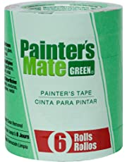 "Painter's Mate 668840 8-Day Painting Tape, 0.94""x 60 yd, Green (6-Pack)"