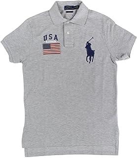0db2ba1f RALPH LAUREN Polo Men's Classic-Fit American Flag Pique Cotton Mesh ...
