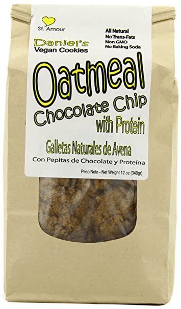 St Amour Daniels Vegan Cookies, Oatmeal Chocolate Chip, 12 Ounce