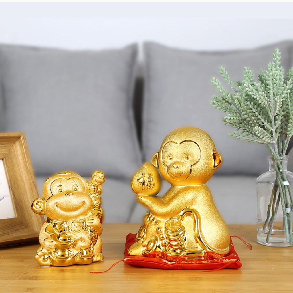 Piggy Bank Ceramic Decoration Monkey Cartoon Gift (Size : S) by XXDP (Image #6)