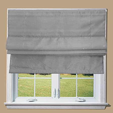 Faux Silk Roman Blinds With Fittings Silver 3ft Amazon Co Uk