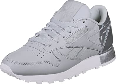 1dd4b40428a Reebok Classic Leather Matte Shine Trainers Grey  Amazon.co.uk  Shoes   Bags