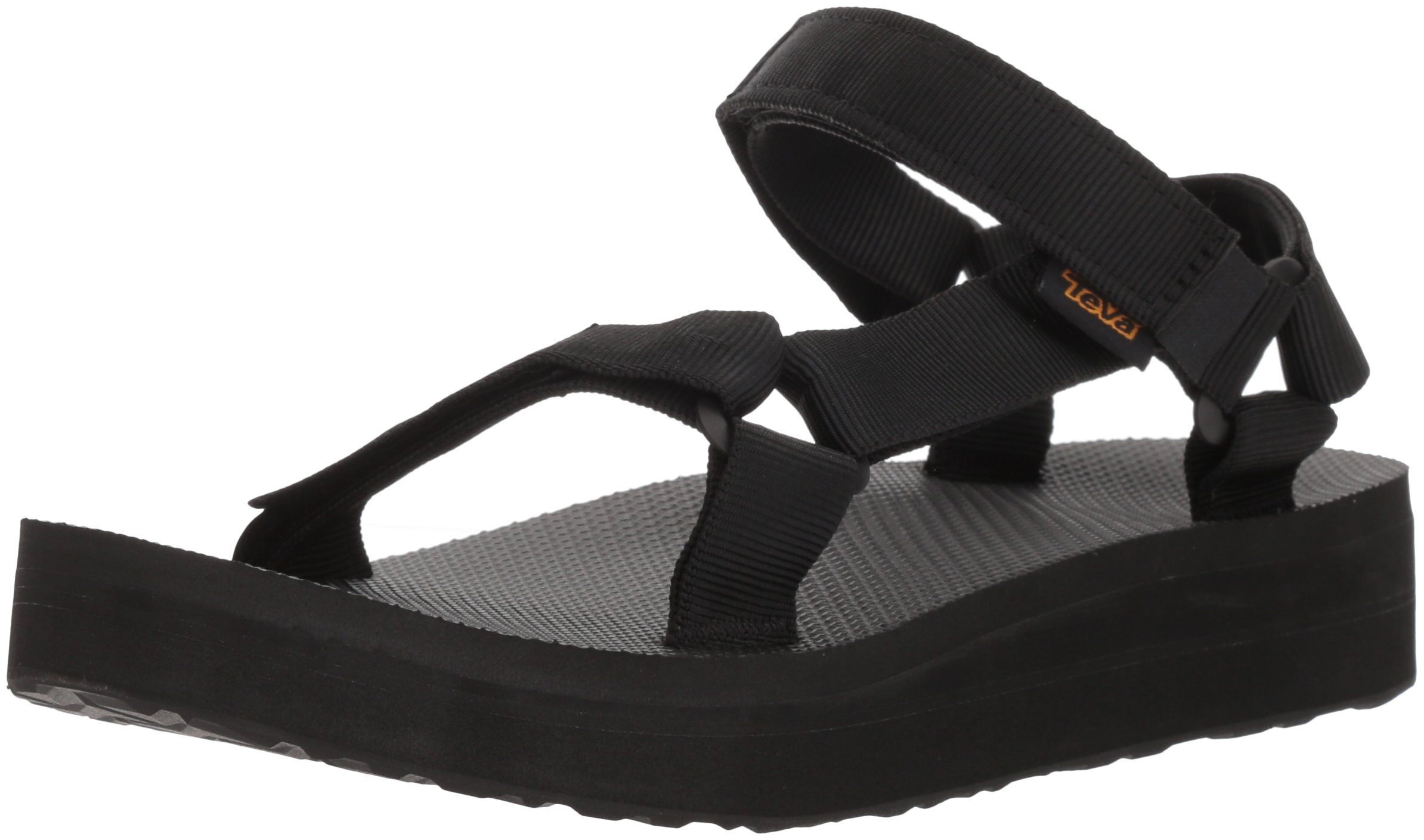 Teva Women's W MIDFORM Universal Wedge Sandal, Black, 07 M US by Teva