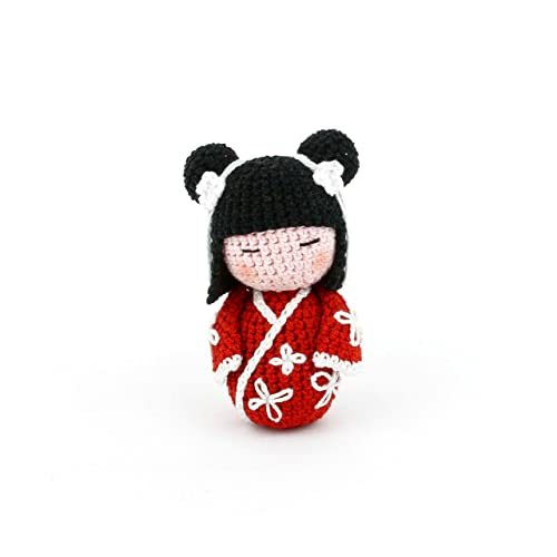 Amigurumi japanese doll Red Kimono by SuniMam on DeviantArt | 500x500