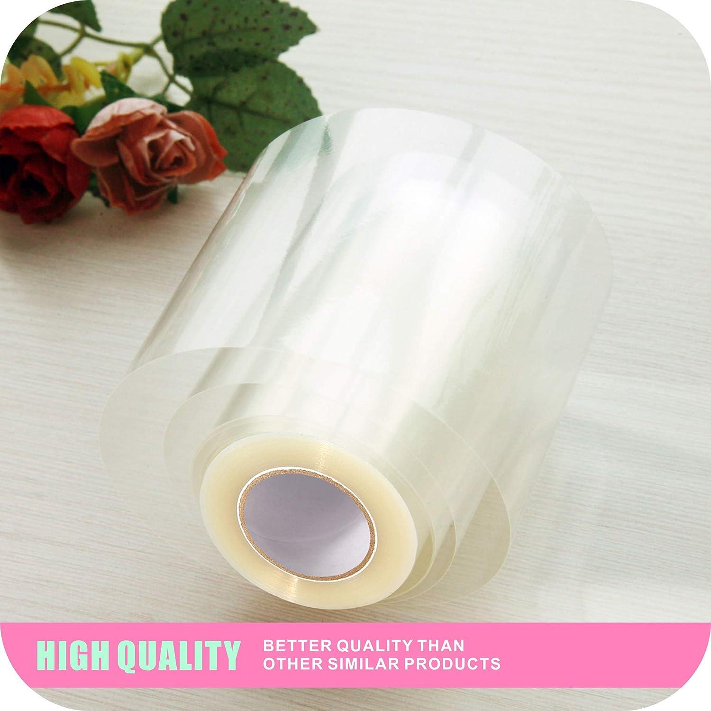 125 micron Trasparente Acetato alimentare GUCUJI 3.1 X 394 Inch decorazione di mousse e torta in acetato trasparente Collare per torta rotolo di acetato