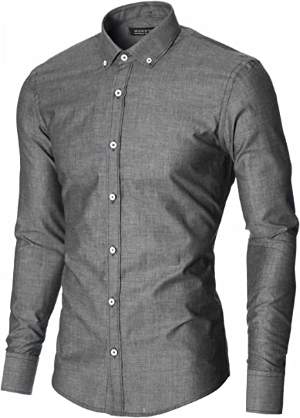 Moderno Mens Dress Shirt Casual Long Sleeve Button Down Shirt