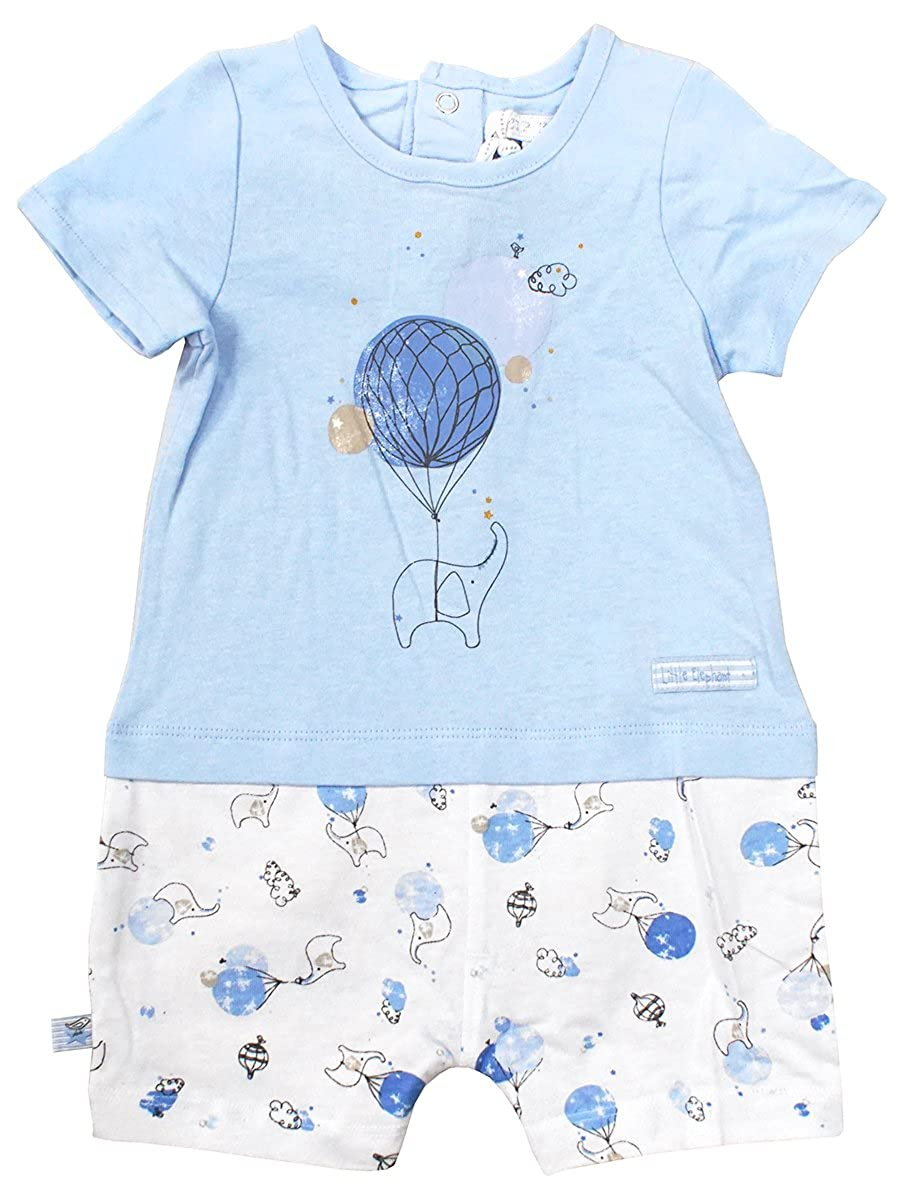 Boys Baby Little Elephant Balloon All in One Playsuit Romper Sizes from Newborn to 12 Months
