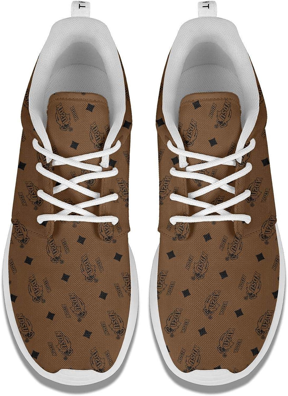 BOINN Womens Lace Up Flat Bottom Running Shoes Printed Outdoor Gym Sport Sneaker