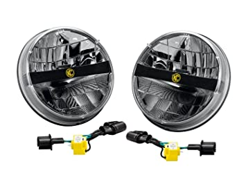 Amazoncom KC HiLiTES 42321 7 LED Headlight for Jeep JK  Pair