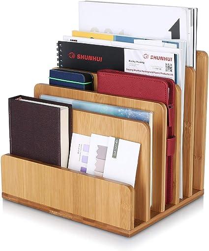 Homfa Archivador de bambú Estantes de Documentos con 5 ...
