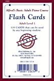 Alfred's Basic Adult Piano Course Flash Cards: Level 1, Flash Cards