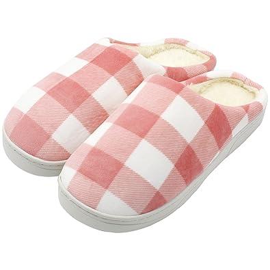 Pantuflas, Pantuflas, Pantuflas de Interior, Zapatos de Felpa, Pantuflas de Algodón de