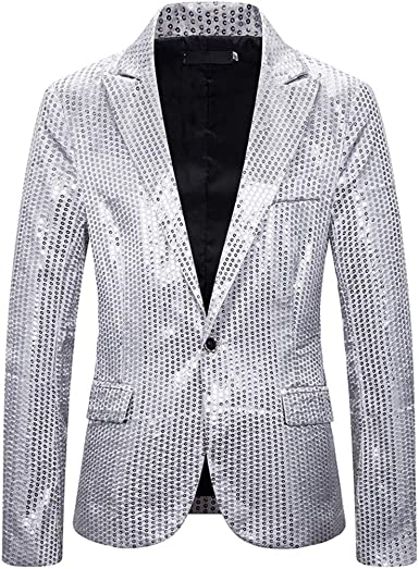 DAY8 Vêtements Homme Costume Manteau Blazer Homme Paillette