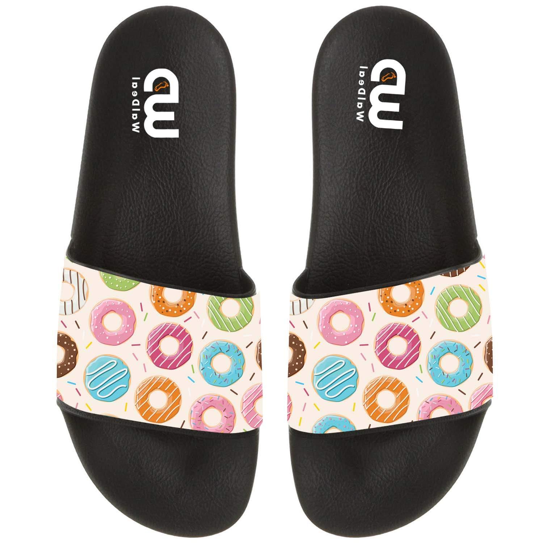 Cartoon Cute Donut Summer Slide Slippers For Girl Boy Kid Non-Slip House Sandal Shoes size 2 by OriginalHeart (Image #1)