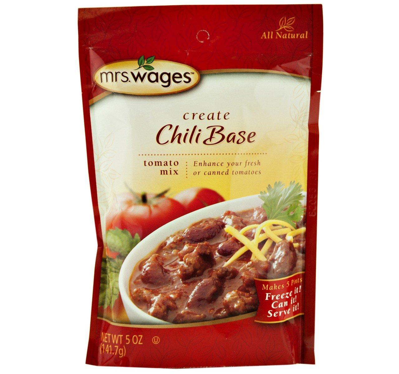 Mrs. Wages Chili Base Tomato Seasoning Mix, 5 Oz. Pouch (Pack of 2)