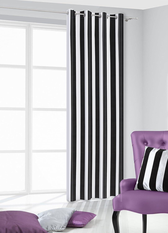 Amazon.de: 140x245 cm schwarz weiß Vorhang Vorhänge Streifen