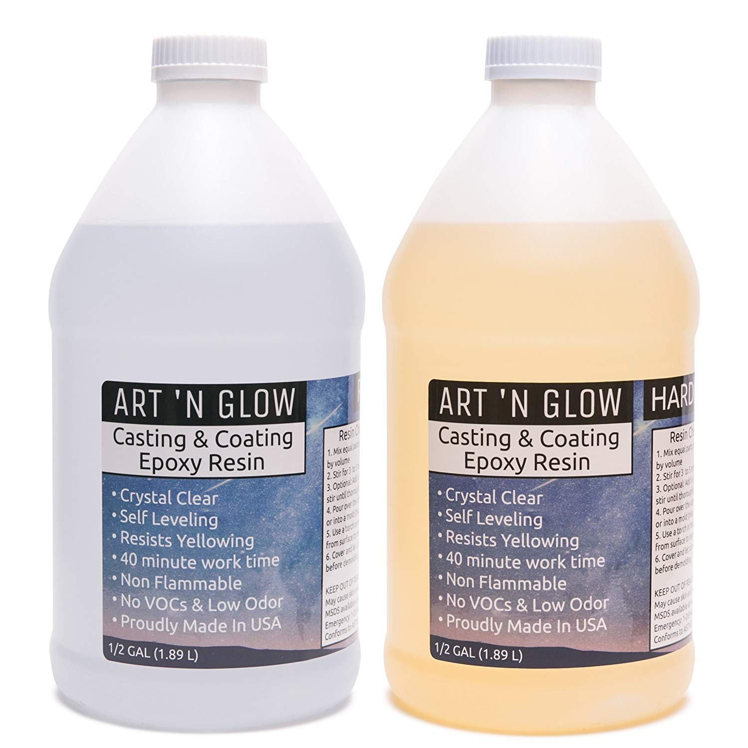 Art 'N Glow Clear Casting and Coating- 1 Gallon Kit
