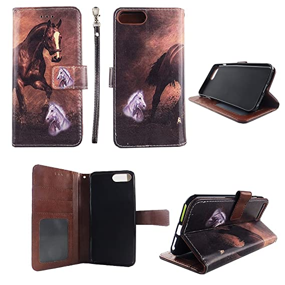 amazon com brown horse wallet folio case iphone 6 6s plus fashionimage unavailable image not available for color brown horse wallet folio case iphone 6 6s plus fashion flip pu leather cover
