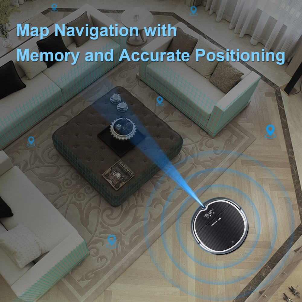 Amazon.com - Liectroux Q8000 Robot Vacuum Cleaner with WiFi APP Control, 2D Map Navigation, Smart Memory, Voice Prompt, Designed for Hard Floor and ...