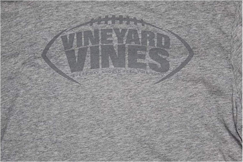 Gray Tee Shirt X-Large 18 XL Vineyard Vines Youth Boys L//S Football Laces Pocket T-Shirt