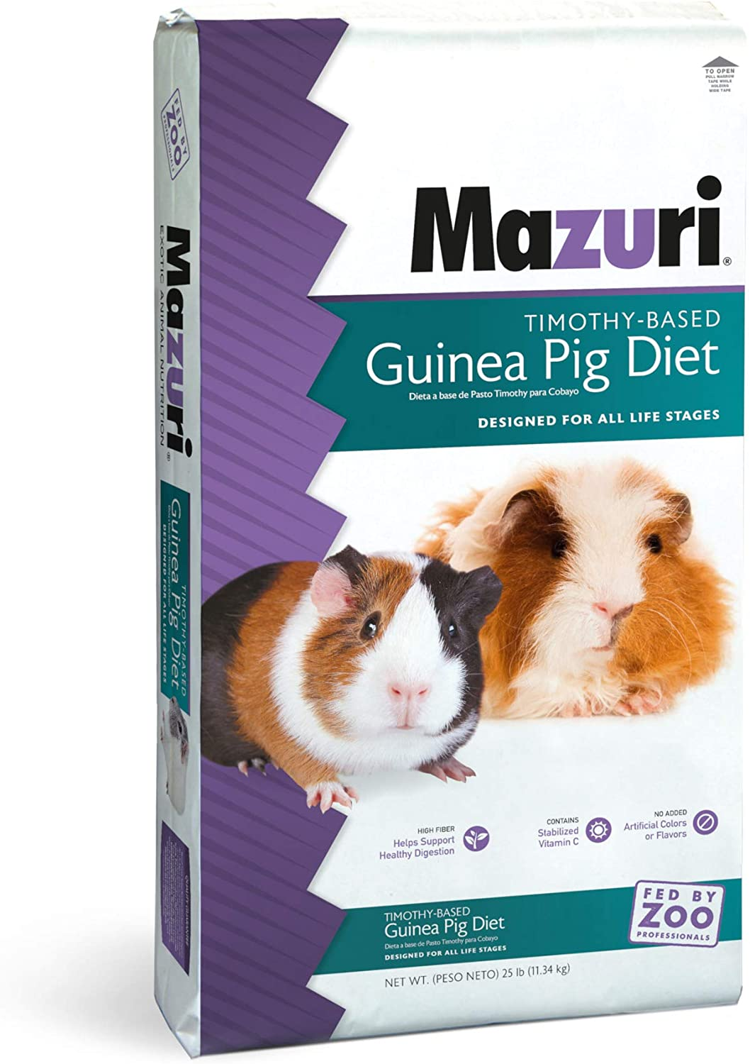 Mazuri Timothy-Based Guinea Pig Diet, 25 lb Bag