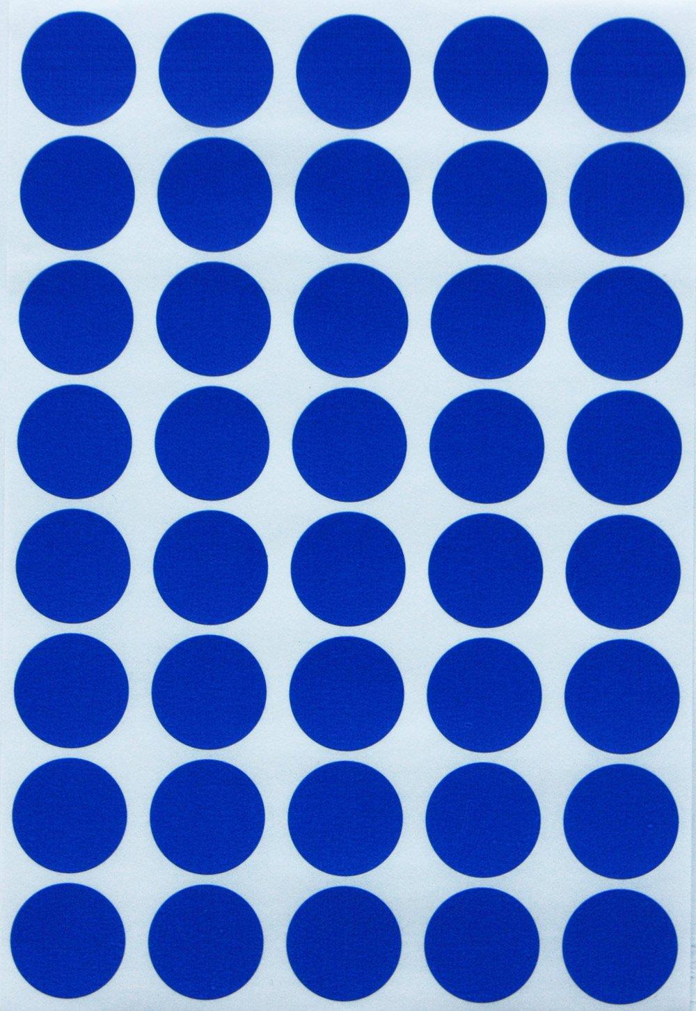Runde Sticker ~ 19mm in verschiedenen Farben Gr/ö/ße 1,9cm Durchmesser Klebepunkte von Royal Green Neon Rot, 280