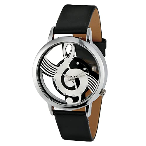 Mens Music Notation Fashion Wrist Watch with Buckle Clasp