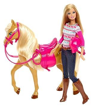 barbie pferd und puppe