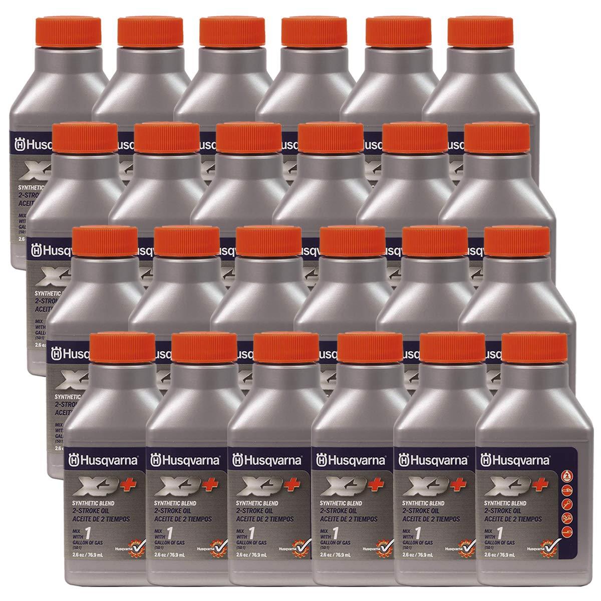 Husqvarna 24PK Genuine OEM XP 2-Cycle Oil 1 Gallon Mix 2.6oz 610000130 593152301 by Husqvarna