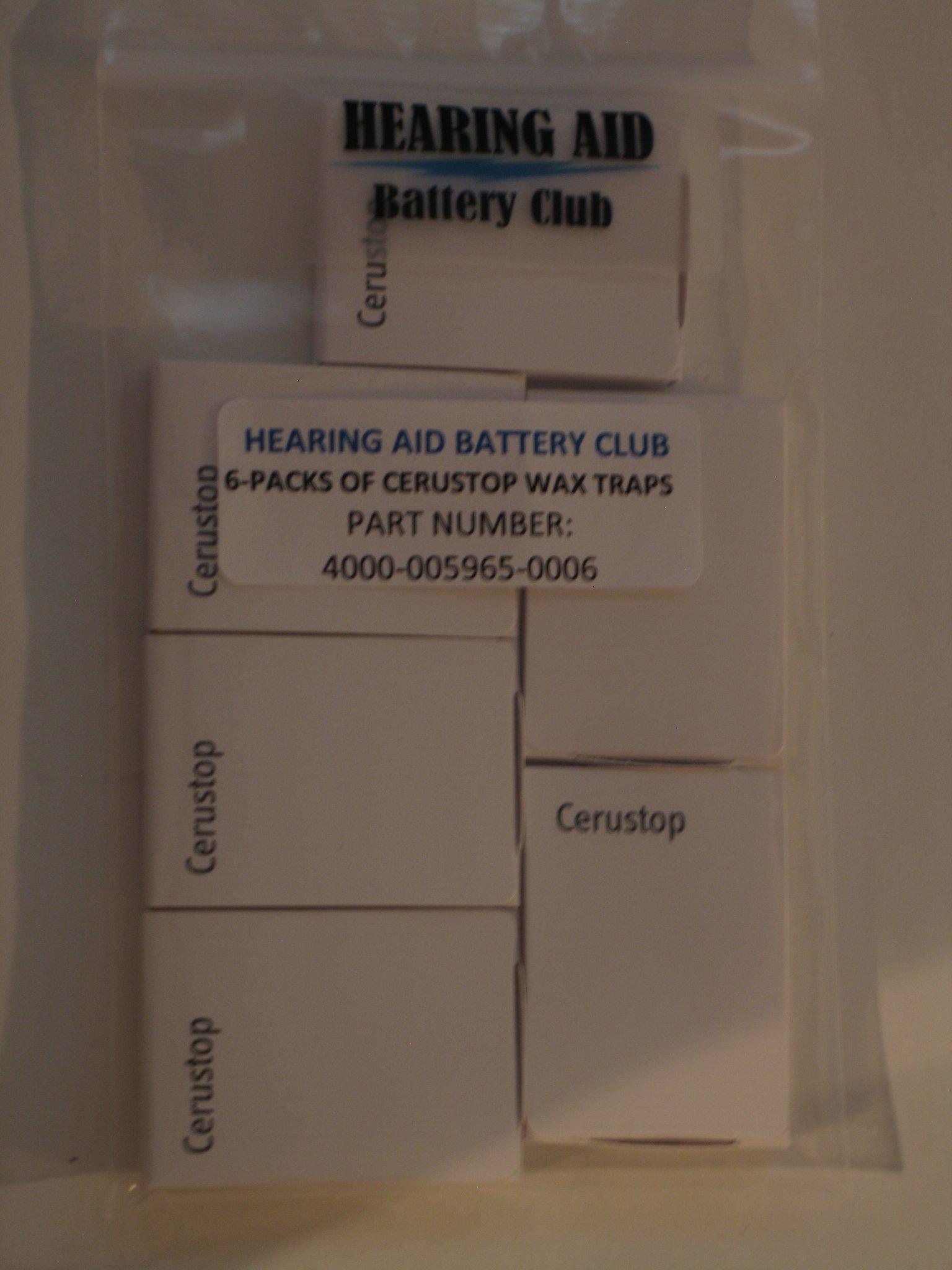 (6 Packs) Genuine Cerustop by Hearing Aid Battery Club