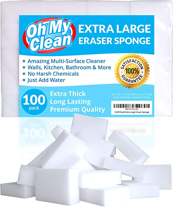 (100 Pack) Extra Large Eraser Sponge - Extra Thick