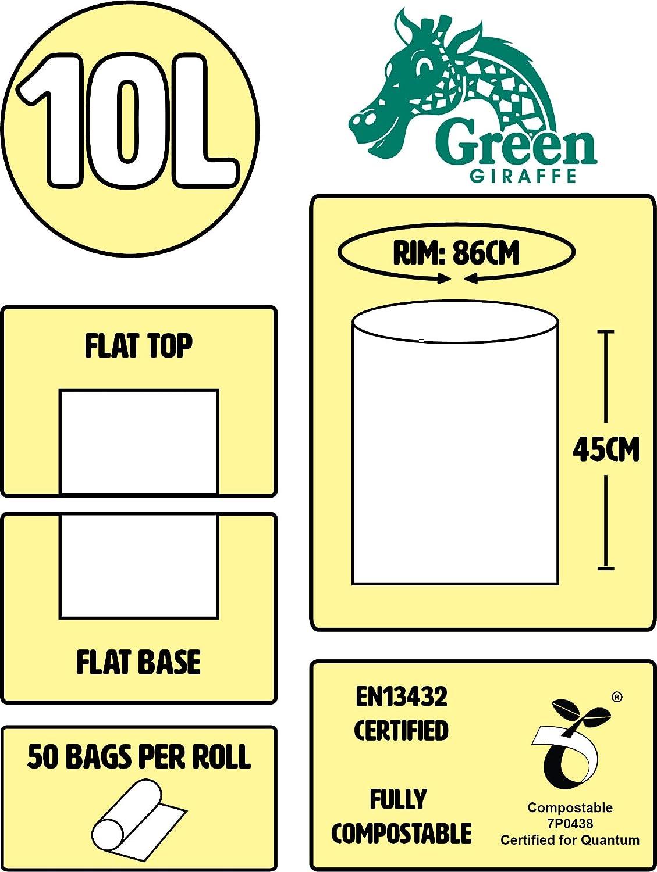 10 litros compostable Caddy Liners para Bolsas de Basura/Bolsas de ...