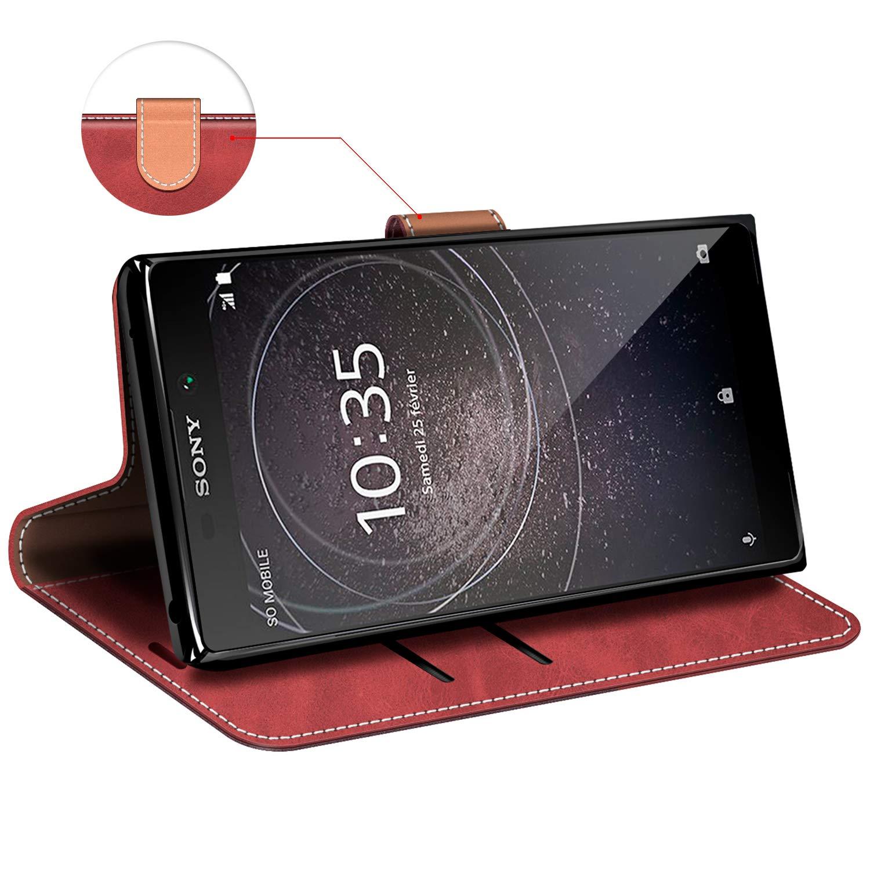 Negro Funda Libro Sony Xperia L2 MOBESV Funda para Sony Xperia L2 Funda M/óvil Sony Xperia L2 Magn/ético Carcasa para Sony Xperia L2 Funda con Tapa
