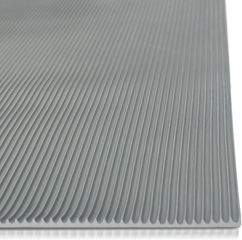 100 x 300 cm Miniripp Gummil/äufer in Grau Gummimatte Schutzmatte Noppenmatte Bodenmatte Noppen Premium gummimatten stall