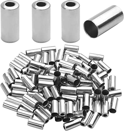 SHIMANO Alloy Cable End Caps //Crimps Tips Ferrules for All Cycles 100 Pack