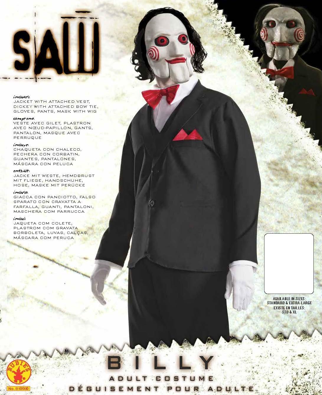 Rubies s - Disfraz de oficial adultos Jigsaw película de terror ...