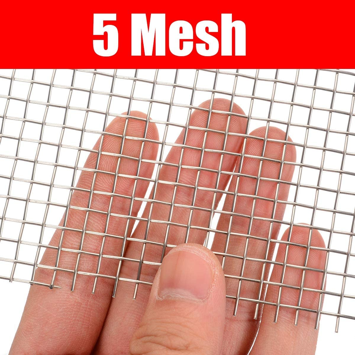 Stainless Steel 5//8//20//30//40 Mesh Woven Cloth Screen Wire Filter Sheet 6x12/'/'