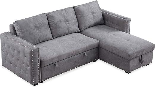 reversible sleeper sectional sofa