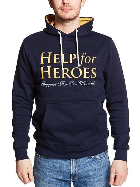 Help For Heroes - Sudadera con Capucha - para Hombre Azul Azul Marino Small: Amazon.es: Ropa y accesorios