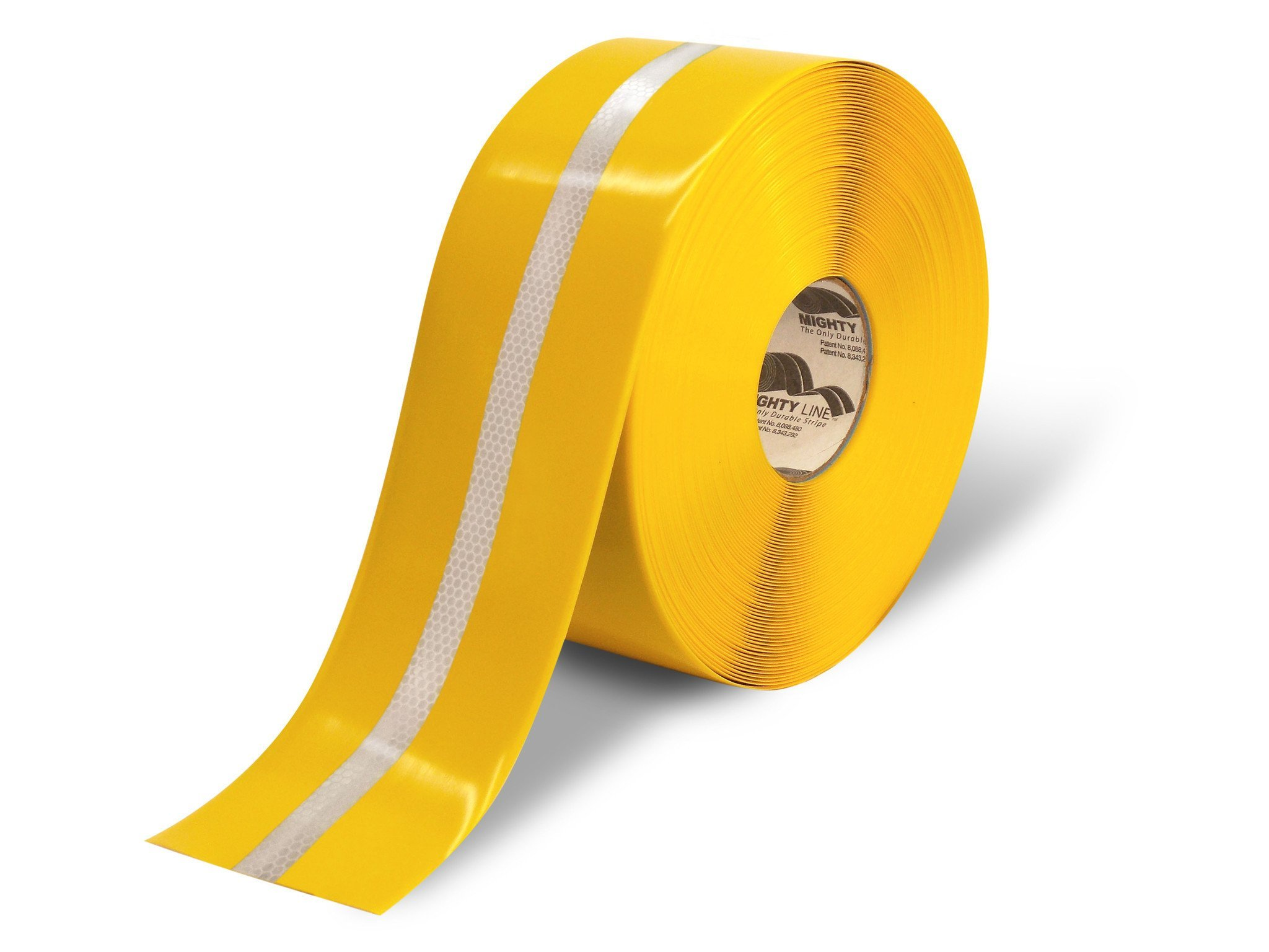 4'' Yellow with Reflective Center Line - 75' Roll - Safety Floor Tape