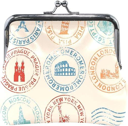 Coin Purse Prague Coin Pouch With Zipper,Make Up Bag,Wallet Bag Change Pouch Key Holder
