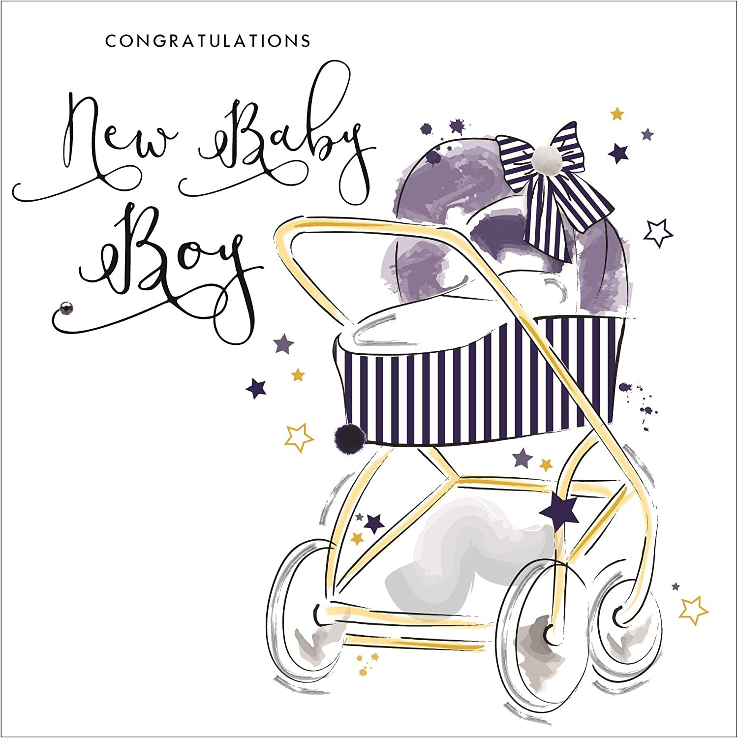 promotional items Congratulations, New Baby Boy   Handfinished ...