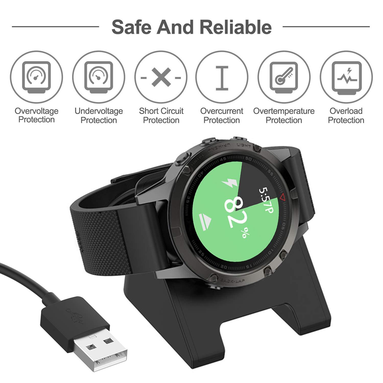 C/âble de Charge USB pour GarminActive FYOUNG 2-Pack Chargeur pour Garmin Vivoactive 4 3.3ft Fenix 5 Forerunner945//935//245//245M et Plus Fenix 6 Garmin Venu Vivoactive 3