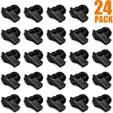 Hipat 24 Pack Black Whistle with Lanyard, Durable Thickened Plastic Whistle, Loud Crisp Sound Whistles Bluk for Coach, Referee, Sports, Official, Emergency (Color: c: 24PCS Black whistles)
