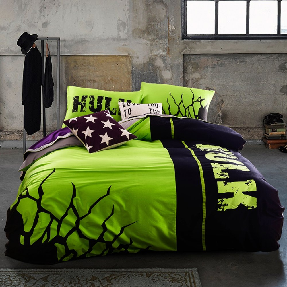 Avengers bedding set twin - Incredible Hulk Bedding Set Queen Size Marvel Super Hero Comforter Set