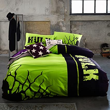 Incredible Hulk Bedding Set Queen Size Marvel Super Hero Comforter Set